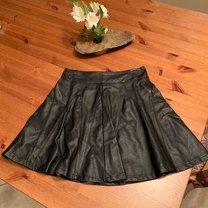 Faux leather black  Mini skirt.